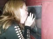 Girl sucking stranger at the gloryhole
